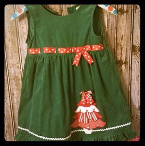 Christmas Tree corduroy dress Rare Editions Sz 6